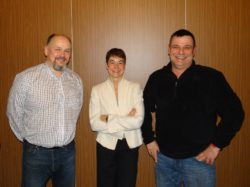 v.l.n.r.: Johannes Kaltenbach, Jo (Josephine) Mills und Ralf Hager